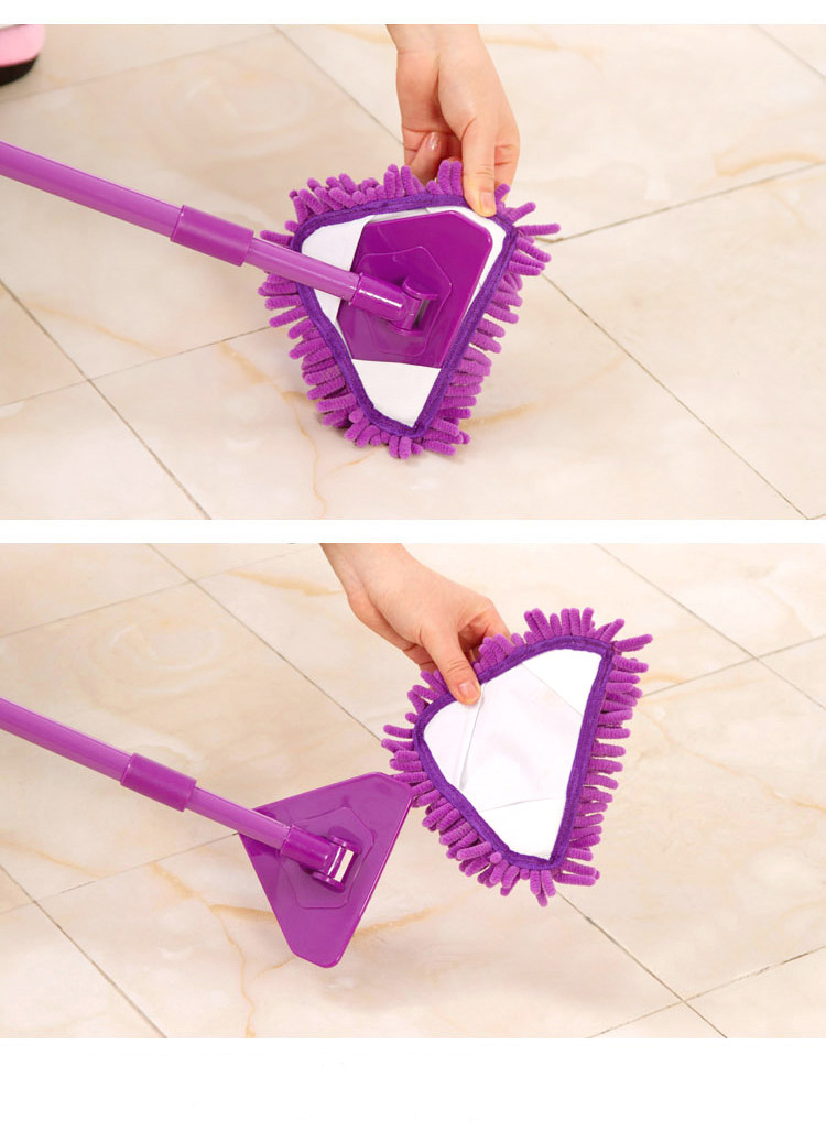2pcs/Lots Mini Mop Cloth Head Chenille Triangle Small Mop Cloth Head For Cleaning Floors Home Window House Cleaning 20