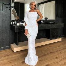 Missord 2021 сексуальное платье на одно плечо облегающее с блестками