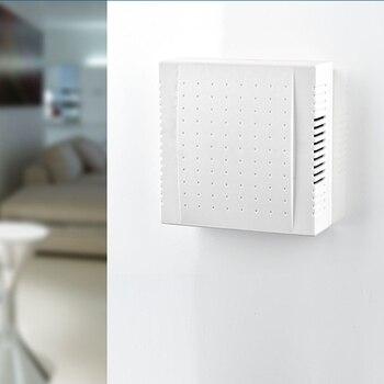 1 Pcs 220V Office Hotel Door Bell Panel Wired Doorbell Din Don Hardware Doors Bells Doorbells 108x108x36mm
