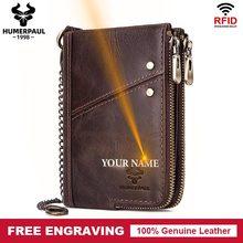 Billeteras para hombre de estilo clásico de 2020, monedero corto de cuero auténtico para hombre, tarjetero, cartera Retro de bolsillo de alta calidad para hombre