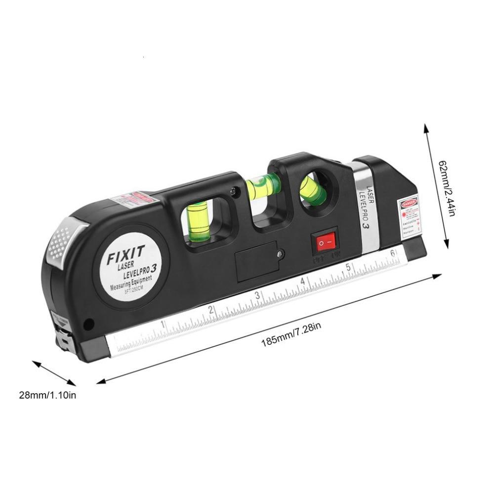 Горячий Многофункциональный Уровень лазерный Горизонт Вертикальная измерительная лента 8 футов выравниватель пузырьков Линейка Инструмент для подвешивания фотографий укладка полов