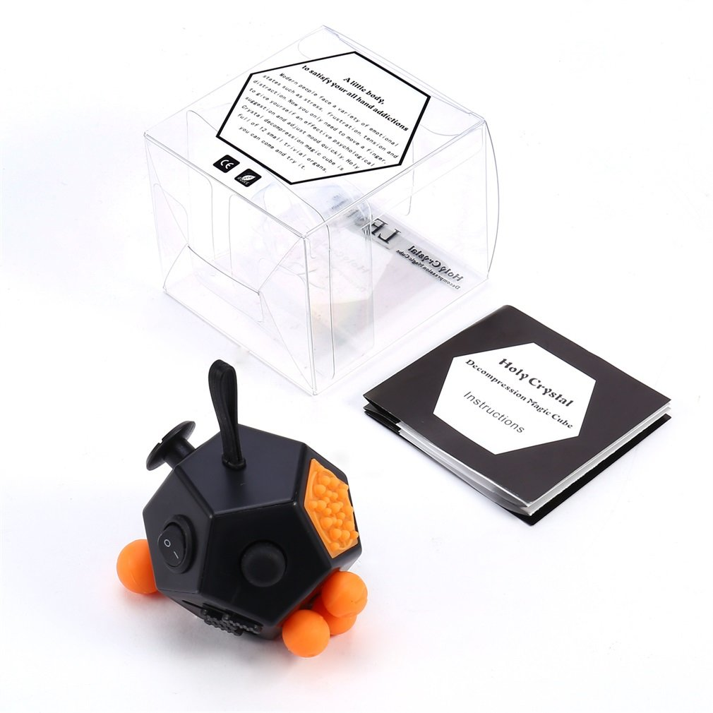 LESHP Black & White & Green Dice 12 Sides Anti-anxiety And Holy Crystal Depression Magic Cube Toys For Children And Adults