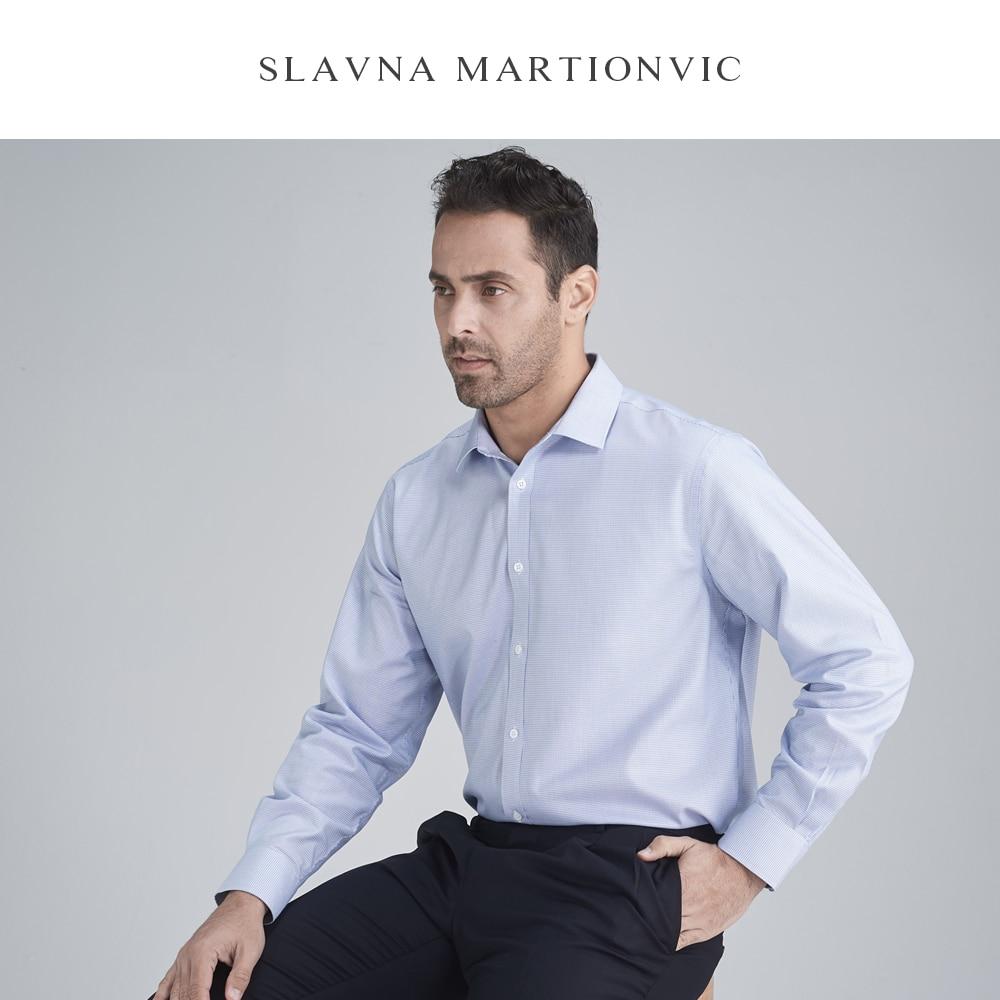 Slavna Martinovic Herfst En Winter Mannen Lange Mouwen Zakelijke Professionele Werk Shirt Flanellen Overhemd Mannen