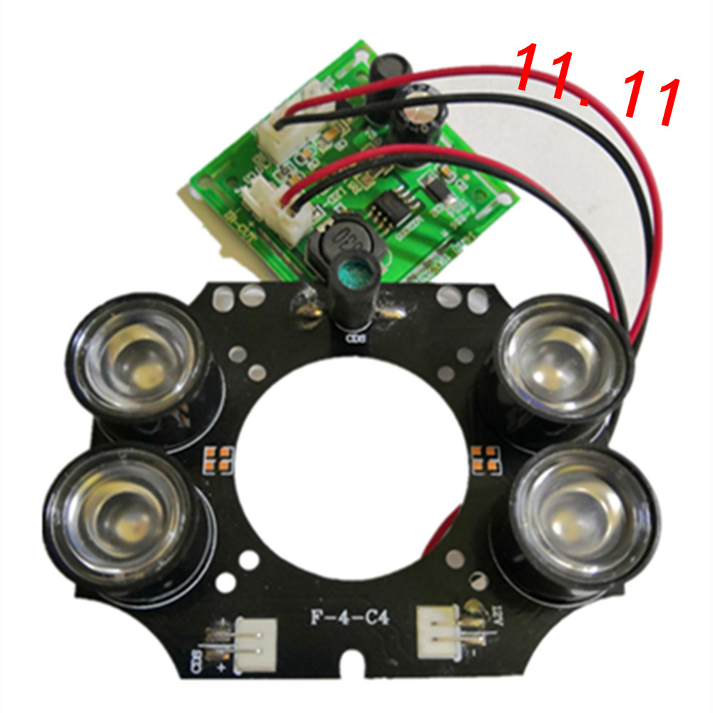 F-4-C4 Infrared Light Board CCTV Camera IR LED Module 4pcs 42mil 3W IR LED Array For DAHUA CCTV Security IP Camera