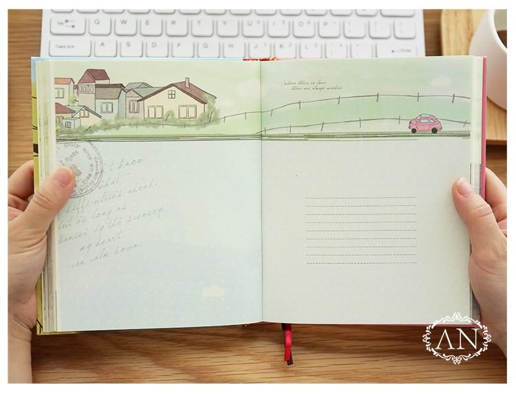 Image 4 - Caderno colorido coreano kawaii, estudantes escrevendo bloco de  notas, planejador de desenho scrapbooking livro grossoCadernos   -