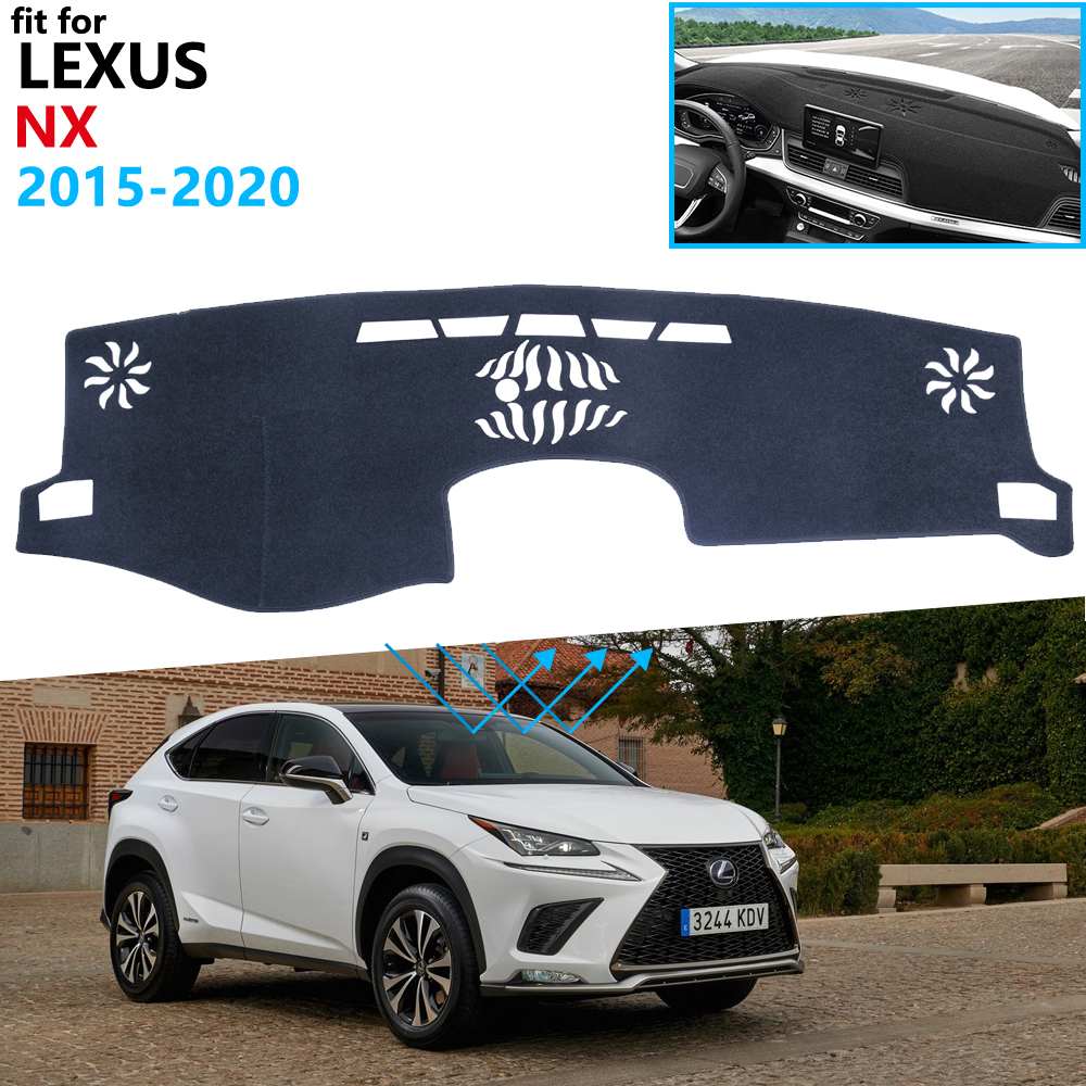 Dashboard Cover Protective Pad for <font><b>Lexus</b></font> NX NX200t <font><b>NX300h</b></font> NX200 NX300 200t 300h 200 300 2015~2020 Accessories Sunshade Carpet image