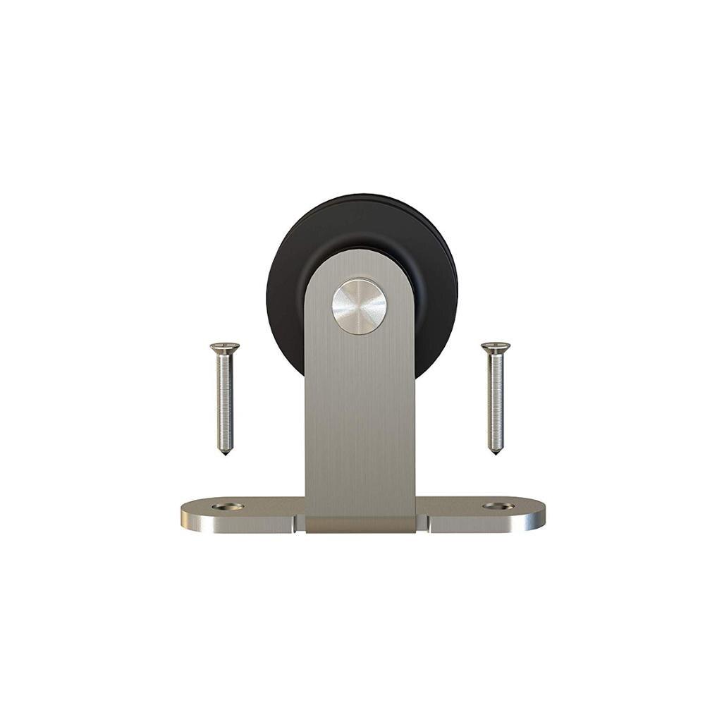 Rouleau de cintre simple de matériel de porte de grange coulissante balayée par Nickel satiné, roue Standard de bâti supérieur