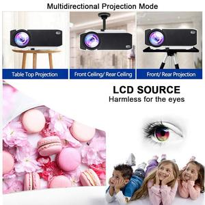 Image 4 - Salange E400S LED Projector, Mini Projector for smartphone, Wireless or USB Mirror For iPhone Android phone, Wifi Video Beamer