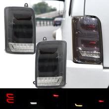 Carro luzes traseiras led para lada niva 4x4 led luzes traseiras parar freio invertendo turn signal luz com relé para lada 4x4 niva 1995 +