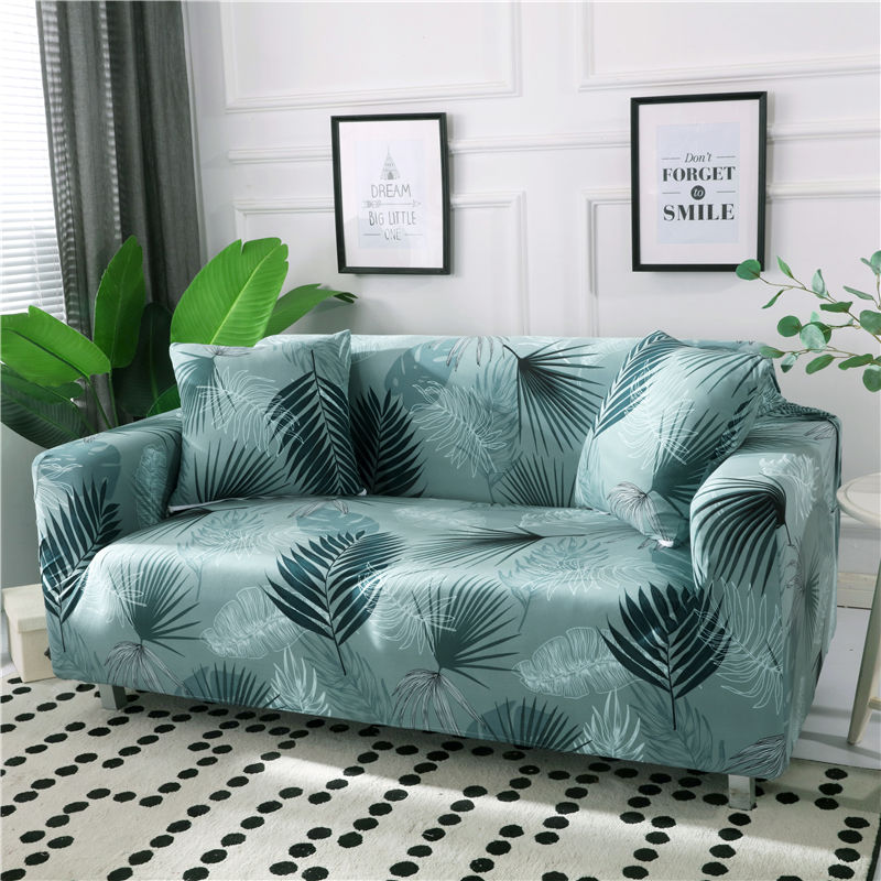 Polyester Couch Cover in Leaf and Flower Pattern for Single to 4 Seated Sofa in Living Room 2