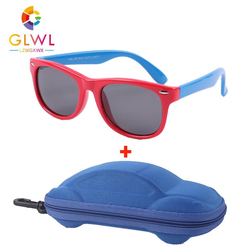 Children Sunglasses Eyewear Elastic-Frame Girls Shades Uv 400 Polarized Sports Kids Boys