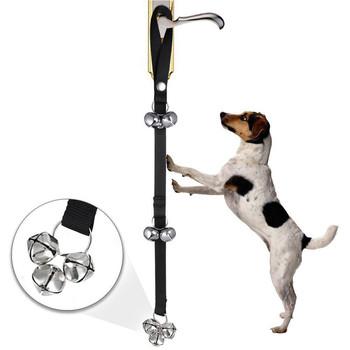 Dzwonki dla psów najwyższej jakości nocnik do nauki świetne regulowane dzwonki dla psa do treningu nocnika twój pasek szczeniaka trwały 20Jan8 tanie i dobre opinie Transer Smycze CN (pochodzenie) NYLON Wszystkie pory roku Stałe Pet Doorbell Dog Doorbell Dog Strap Pet Strap Adjustable Dog Bells