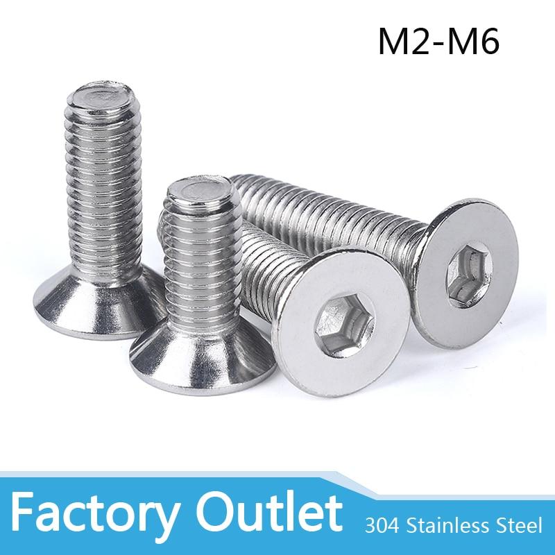 M10 A2 STAINLESS STEEL MACHINE SCREWS COUNTERSUNK BOLTS ALLEN KEY SOCKET BOLTS