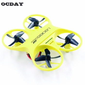 L6065 Mini RC Quadcopter Infrared Controlled Drone 2.4GHz Aircraft with LED Light Birthday Gift for Children Toys