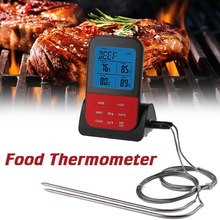 Wireless Waterproof BBQ Thermometer Food Thermometer Digital Cooking Meat Food Oven Grilling Thermometer with Probe For Kitchen цена в Москве и Питере