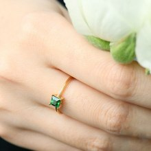 Imitation Natural Jade Color Rings For Women Classic Silver Color Wedding Engagement Ring Fine Jewelry Gift(China)