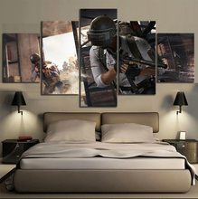 Print HD Painting Frame Art 5 Pieces Pubg Shooter Game Stimulate The Battlefield Modular Poster Canvas Pictures Decor Room Wall