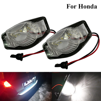 2Pcs 18LED Car License Plate Lights Bright White Auto Lamp Accessories For Honda Civic Accord City MK4 Acura MDX RL TL TSX ILX image