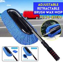 Car Wash Brush Cleaning Mop Broom Adjustable Telescoping Long Handle Car Cleaning Tools Rotatable Brush