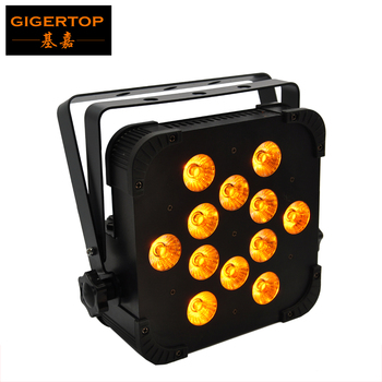 Gigertop TP-G3045-5IN1 12x15W RGBWA 5IN1 Color Flat Led Par Light DMX512 For Disco DJ KTV Projector Machine Party Stage