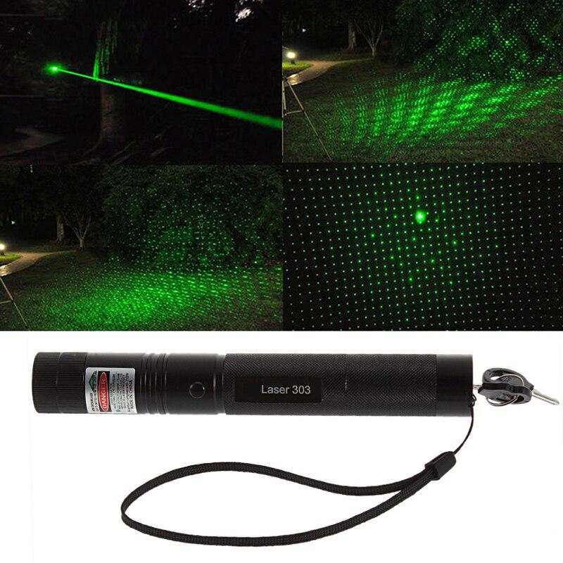Мощный лазер 303 Регулируемый фокус 532nm Зеленая лазерная указка зеленый лазерный светильник лазерный Охота мощный военный Laster указатель руч...