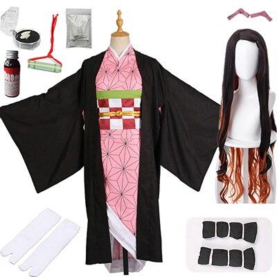 Лидер продаж; Новинка; аниме «Demon Slayer: Kimetsu no Yaiba»; Косплей; Kamado Nezuko; женская японская одежда; костюм для косплея - Цвет: package  E