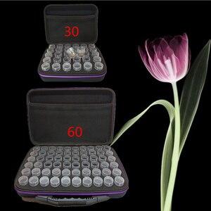 Image 2 - 30/60 Flessen Diamant Schilderij Doos Tool Container Opbergdoos Carry Case Houder Hand Tas Zipperdiamond Kruissteek Accessoires