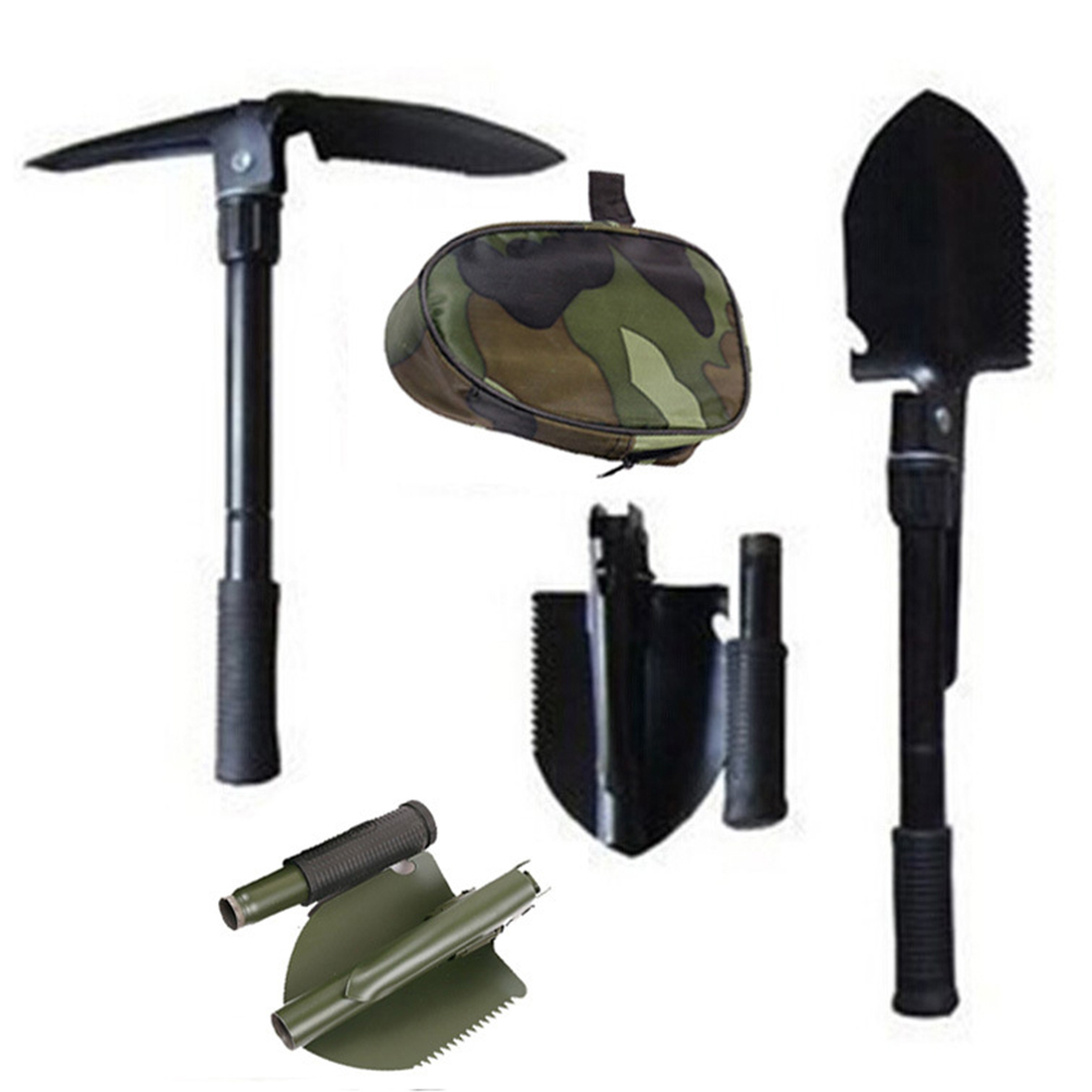 Outdoor Survival Shovel Multi Function Shovels Open Bottle Digging Mud Cut Tree Shovel Hiking Camping Tool Travel Survival Tools