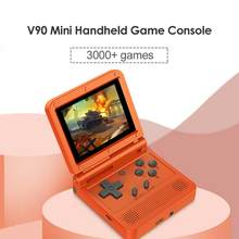 2020 New Built-in 400 Games 1000mAh Battery Portable Retro Video Handheld Game Console PS1 Gamepad 3.0 Inch LCD Game Player(China)