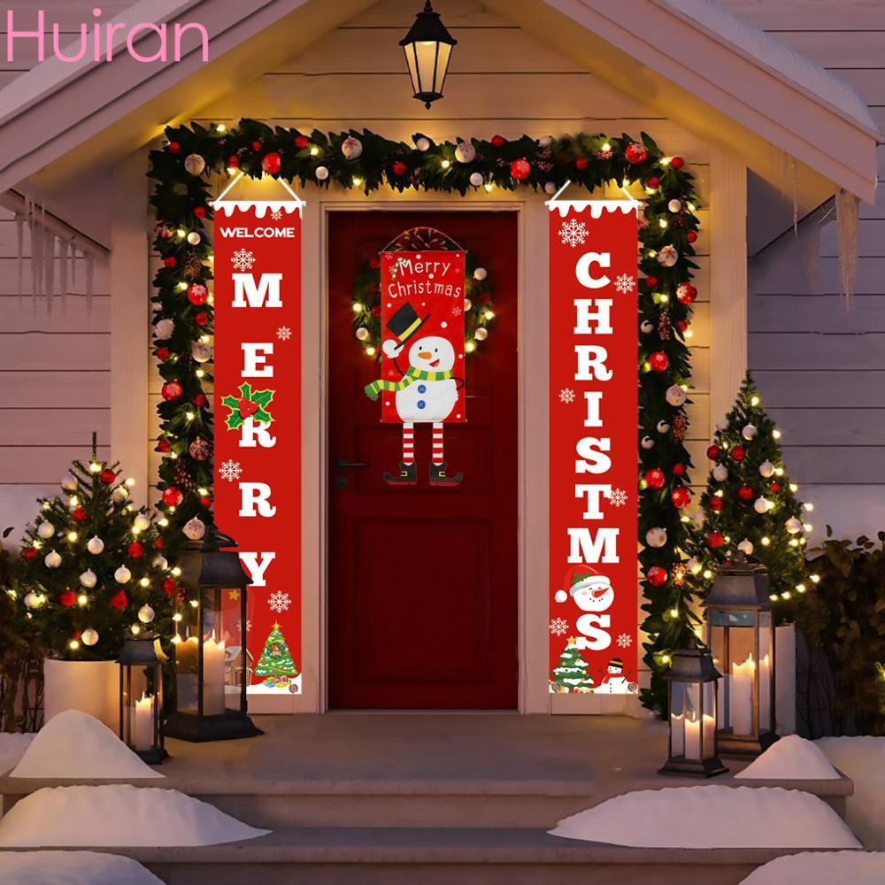 Huiran Счастливого Рождества крыльцо знак декоративный дверной баннер Рождество письмо крыльцо украшения для дома подвесные рождественские ...