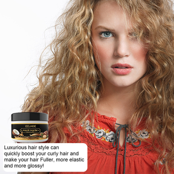 50Ml Coconut Oil Hair Treatment Mask Curly Hair Lofting Cream Repairs Damaged Roots And Nourishes Keratin Hair And Scalp TXTB1 image
