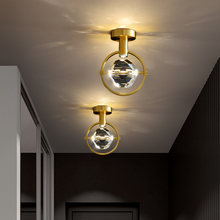 Современные медные хрустальные лампы скандинавские минималистичные