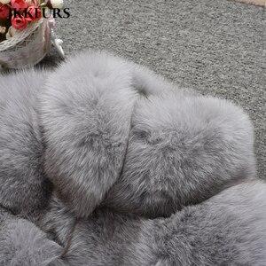 Image 5 - 여자의 진짜 여우 모피 코트 패션 스타일 2019 새로운 도착 고품질의 겨울 두꺼운 따뜻한 모피 자켓 겉옷 s7362