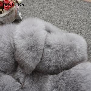 Image 5 - Abrigo de piel auténtica de zorro estilo de moda 2019 nuevas llegadas de alta calidad de invierno grueso cálido chaqueta de piel prendas de vestir exteriores S7362