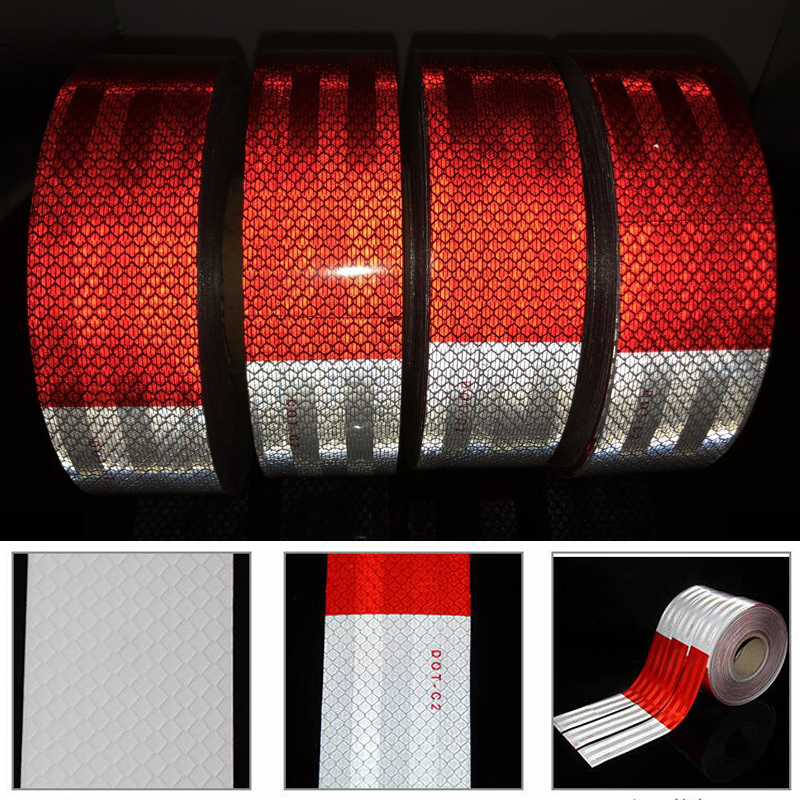 10Rolls DOT-C2 Reflective Conspicuity Diamond Grade Tape, Automotive, Motorcycle, Trailer Tractor Truck  Reflective Tape