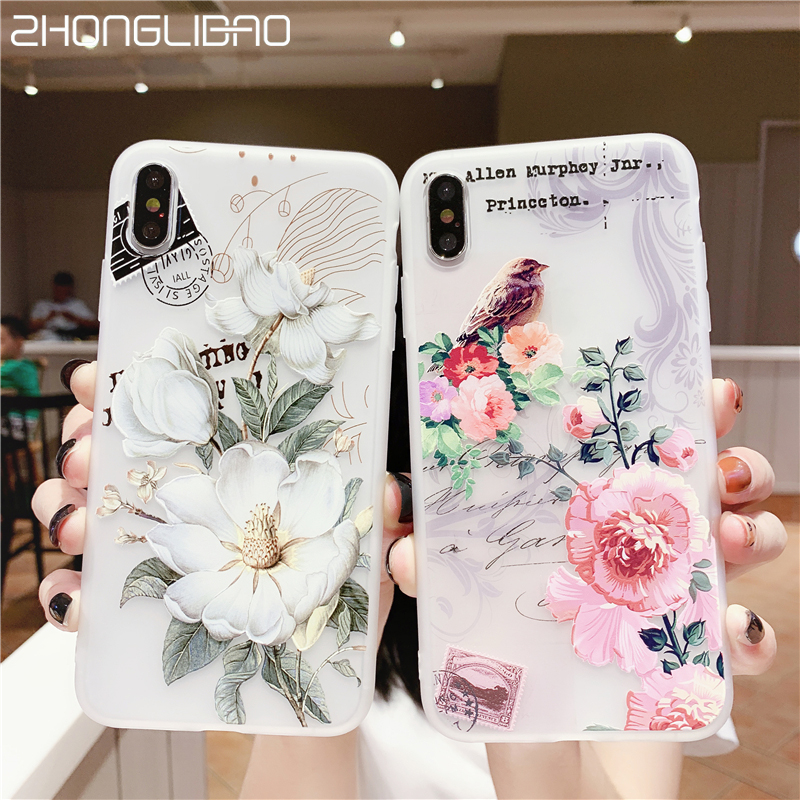 Luxury 3D Silicone Case for Huawei P30 P20 <font><b>Mate</b></font> <font><b>20</b></font> 10 Pro <font><b>Lite</b></font> Honor 10 V10 Emboss Flowers Tpu Case for <font><b>Hawei</b></font> NOVA 3 3i 3e Cover image