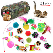Cat Toys False Mouse Pet Cat Toys Mini Funny Playing Toys for Cats with Colorful Feather