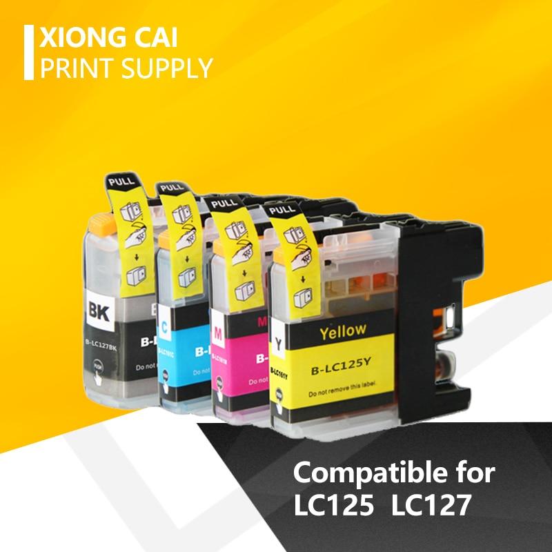 Полностью совместимый чернильный картридж для принтера brother LC125 LC127 MFC-J4410DW J4510DW J4610DW J4710DW DCP-J4110DW принтер LC125 LC127