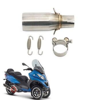 Silenciador de Escape antideslizante para motocicleta tubo de conexión medio, para Piaggio...