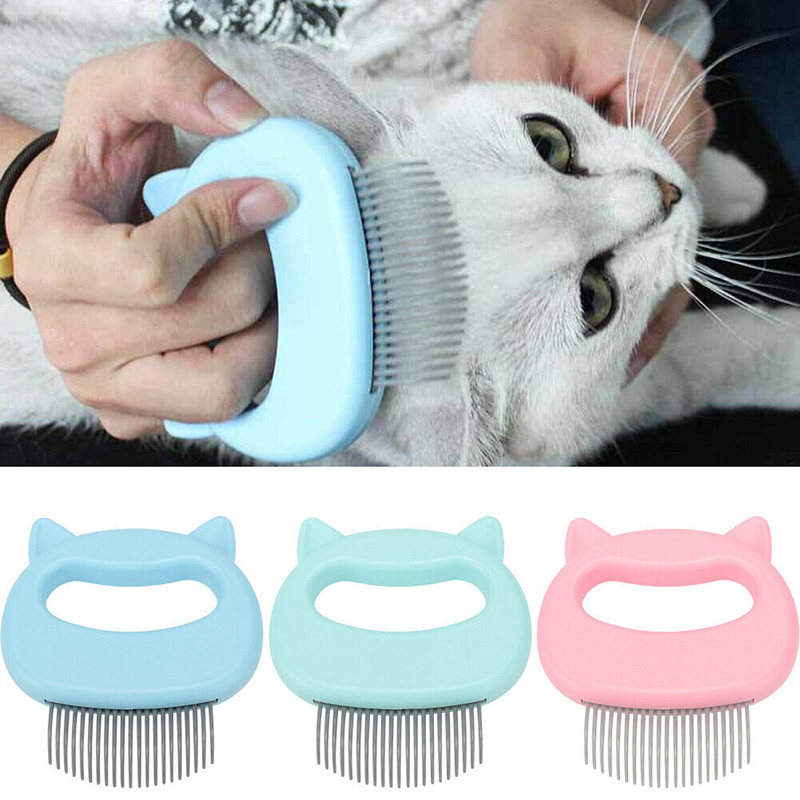 Hot Relaxing Cat Comb Massager Pet Brush Dog Hair Removal Open Knot Massage Comb MVI-ing