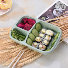 Wheat Straw Lunch Box Childrens School Leakproof Snack Meal Prep Food Bento Microwave Heating