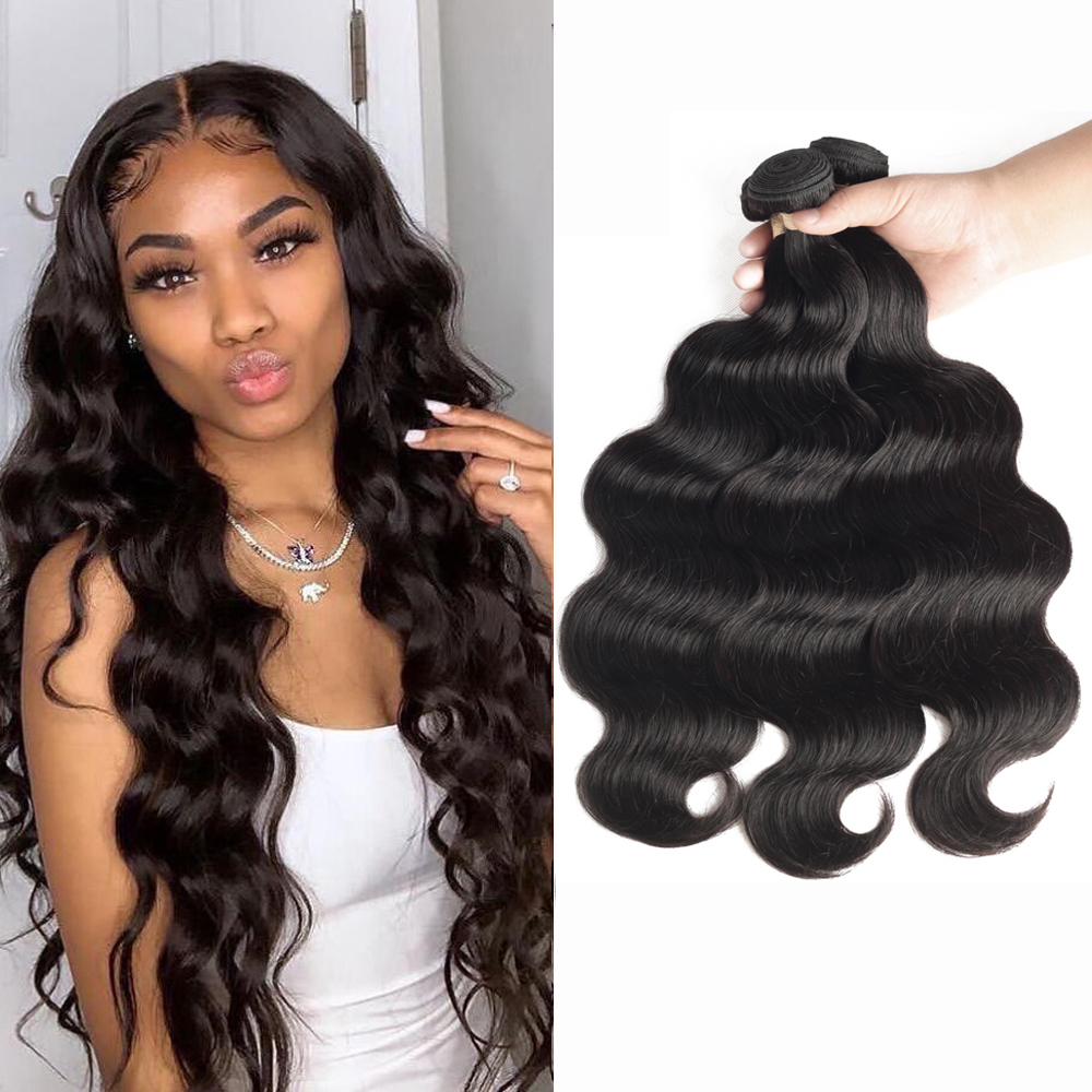 Sapphire Hair Body Wave Bundles Brazilian Hair Weave Bundles 100% Human Hair Bundles 3 4 Bundles Brazilian Body Wave Hair Remy