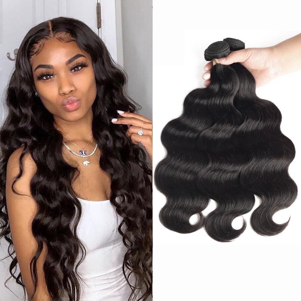 Sapphire Hair Body Wave Bundles Brazilian Hair Weave Bundles 100% Human Hair Bundles 3 4 Bundles Brazilian Body Wave Hair Remy