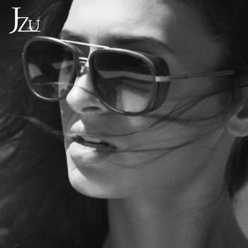JZU Iron Man 3 Matsuda TONY stark okulary przeciwsłoneczne męskie Rossi powłoka retro Vintage Designer okulary przeciwsłoneczne tanie i dobre opinie Lustro Stop Dla dorosłych Z poliwęglanu CN (pochodzenie) YJ075 45mm 55mm Gogle