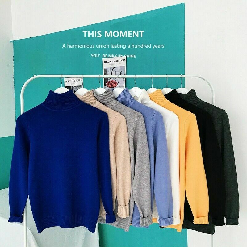 Hot Fashion Men's Knitted Warm Turtleneck Sweater Solid Roll Pullover Knitted Jumper Winter Male Fashion Casual Tops