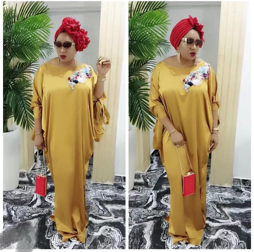 African Abaya Dashiki Dress Silk Embroidery Loose Bat Sleeve Muslim Bazin Design Long Maxi Robe Gowns Africa Dashiki Traditional