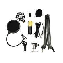 цена на DishyKooker Professional Condenser Audio 3.5mm Wired Studio Microphone Vocal Recording KTV Karaoke Microphone Mic for Computer