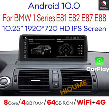Snapdragon Android 10.0 Car Multimedia Player GPS Navi Radio for BMW 1 Series 120i E81 E82 E87 E88 with BT Wi-Fi 4G 1920*720P
