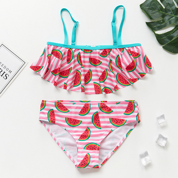 Children's Swimwear   Two Piece Flamingo Swimsuit For Girls  2