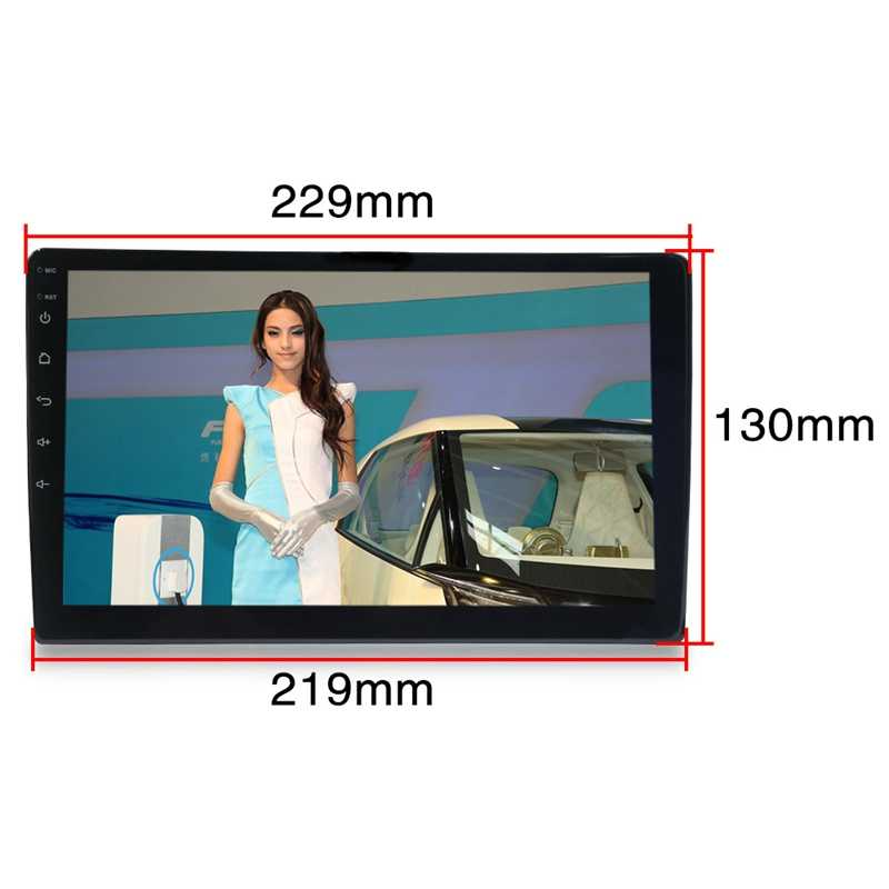9 pulgadas Android 8,1 coche Universal Radio 2Din Radio de coche reproductor de Dvd de navegación Gps Wifi Bluetooth Mp5 jugador trasero con un disparo